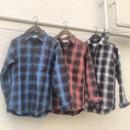 amoralcode 綿麻 オンブレーチェックシャツ¥4900→¥3430