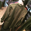 amc バックZIP ビエラロングシャツ 無地 2色¥11000