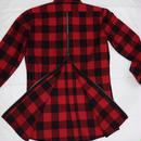新年sale!!50%off amc バックzip チェックロングシャツ 3色¥9800