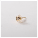 18K Yellow Gold Diamond  Pierce