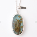 新作!送料無料 Herbarium Necklace・Sky Blue