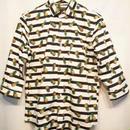 パイナップル柄7部袖シャツ(日本製)