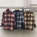 高級オンブレーネルシャツ