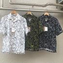 △模様 オープン開襟シャツ