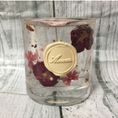 Glass Candle Holder (Flower)