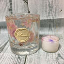 Glass Candle Holder (Consolida ajacis)
