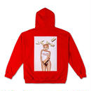 THE KYLIE SHOP KYLIE MONEY PHOTO HOODIE / RED