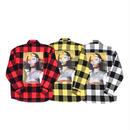 AMOUR / CHECK FLANNEL SHIRT LISANA