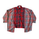 AMOUR ORIGINALS SWITCHED CHECK SHIRT / RED