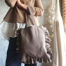 cotton linen bag (mocha)