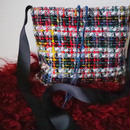 italian tweed pochette (plaid)