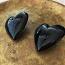 heart cabochon earrings