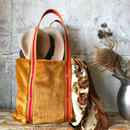 fur tote  bag (golden)