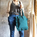cotton linen bag (cyan)