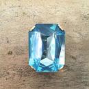octagon brooch (sapphire)