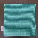 green ボーダー mini handkerchief