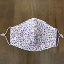 フラワー柄 purple mama mask