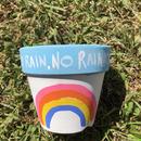 no rain no  rainbow植木鉢3.5号