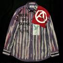 アナーキーシャツ メンズL  ライトパープル