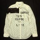 アナーキーシャツ(ドット) レディースM ホワイト