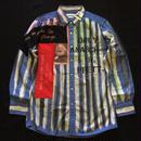 アナーキーシャツ メンズブルーL