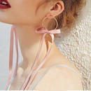 ribbon hoop earrings/リボン フープ ピアス