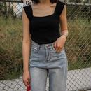 knit sleeveless tops/ニット ノースリーブ トップス