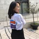 ロング丈 ロゴTシャツ(A) ホワイト