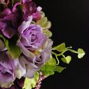 【送料無料】大人婚 パープルがエレガント. アーティフィシャルフラワーブーケ  シャクヤク