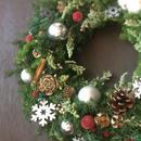 プリザーブドフラワー クリスマスリース 大きめ33センチリース