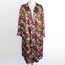1940s flower printed gown coat