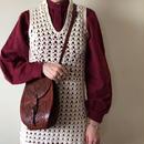 1970s flannel cotton blouse