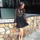 Lace Chiffon OP  BLACK