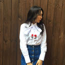 2way Rose Shirt WHITE