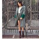 Mink Wool Coat GREEN