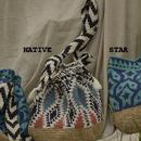 手編みコットンジャカードニットバッグ#1848039 巾着バッグ