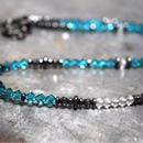 """スワロフスキー ネックレス[アクアブルー]""""swarovski necklace(AQUABLUE)"""""""