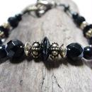 オニキスディスク ブラスデザイン ブレス ''ONYXdisk brassdesign bracelet''