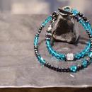 """スワロフスキー ラップブレス[クリアブルー]""""swarovski wrap bracelet(CLEAR BLUE)"""""""