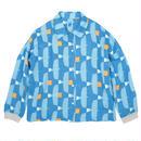 衿付き長袖ブラウス とんびに油揚げ(青)