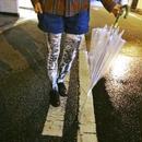 雨夜の煌めきコンクリートタイツ Light Blue ライトブルー