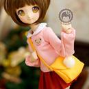 MDD,MSD ミニドルフィードリーム洋服 幼稚園 制服セット(赤スカート)