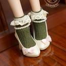 DD,DDS,DDDY,SD ドルフィードリーム靴下 フリルソックス(グリーン)