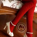 MDD,MSDサイズ ミニドルフィードリーム靴下 ロングソックス(レッド)