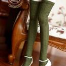 MDD,MSDサイズ ミニドルフィードリーム靴下 ロングソックス(グリーン)