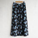 Used rose print long skirt