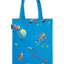 Out of Print Curious George Tote Bag / アウトオブプリント おさるのジョージ トートバッグ ブルー