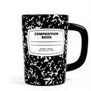 Out of Print Composition Book Mug Black / アウトオブプリント コンポジション ノートブック マグカップ ブラック