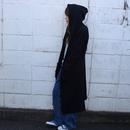 おばけサイズのフード付きロングジャケット【ブラック】