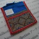 モン族の襟飾り no.2  11x12 cm  Hmong embroidery needlework はぎれ ラオス タイ